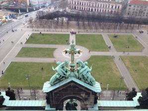 Der Lustgarten von oben