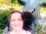 Selfie mit Hirsch :D