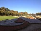 Schon verblüht, aber immer noch gut zu erkennen, der kunstvoll angelegte Schlossgarten