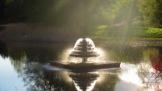 Brunnen in der Aberndsonne