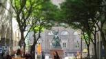 Seifenblasen und im Hintergrund St. Georg