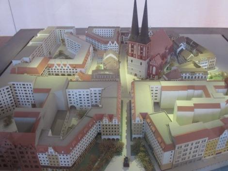 Model des Nikolaiviertels