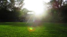 Die Liegewiese in der Abendsonne